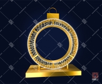 """Светодиодная 3D-фигура """"Шар кольцо классик про"""""""