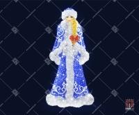 """Светодиодная 3D-фигура """"Внучка Деда Мороза"""""""