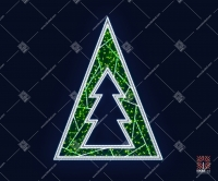 """Светодиодная 2D-фигура """"Зеленая ель"""""""