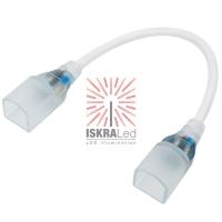Коннектор для гибкого неона формы D 16х16 мм, длина 20 см (цена за 1 шт.)