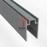 Короб алюминиевый для гибкого неона 8х16 мм, длина 1 метр