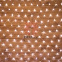 Гирлянда Сеть 1,5х1,5м, прозрачный ПВХ, 150 LED Белые