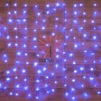 Гирлянда Светодиодный Дождь  1,5х1м, свечение с динамикой, прозрачный провод, 230 В, диоды СИНИЕ