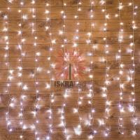 Гирлянда Светодиодный Дождь  1,5х1,5м, свечение с динамикой, прозрачный провод, 230 В, диоды БЕЛЫЕ