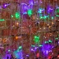 Гирлянда Светодиодный Дождь 2х3м, постоянное свечение, прозрачный провод, 230 В, диоды МУЛЬТИКОЛОР