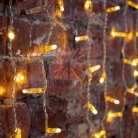 Гирлянда Светодиодный Дождь 2х1,5м, постоянное свечение, прозрачный провод, 230 В, диоды ТЕПЛЫЙ БЕЛЫЙ