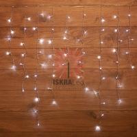 Гирлянда светодиодная Бахрома 3*0,8 м 200 LED БЕЛЫЕ, прозрачный ПВХ