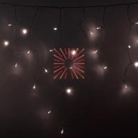 Гирлянда Айсикл (бахрома) светодиодный, 4,8 х 0,6 м, прозрачный провод, диоды ТЕПЛЫЙ БЕЛЫЙ,  176 LED