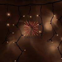 Гирлянда Айсикл (бахрома) светодиодный, 4,0 х 0,6 м, черный провод КАУЧУК, 230 В, диоды ТЕПЛЫЙ БЕЛЫЙ, 128 LED NEON-NIGHT