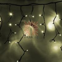 Гирлянда Айсикл (бахрома) светодиодный, 5,6 х 0,9 м, с эффектом мерцания,черный провод КАУЧУК, 230 В, диоды ТЕПЛЫЙ БЕЛЫЙ, 240 LED NEON-NIGHT