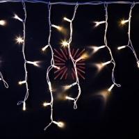 Гирлянда «Айсикл» («Бахрома») светодиодная 4,0х0,6 м, с эффектом мерцания, белый провод каучук, 230 В, диоды белые NEON-NIGHT