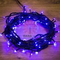 Гирлянда Твинкл Лайт 10 м,  черный ПВХ, 100 диодов, цвет синий