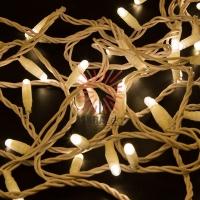 Гирлянда Нить 10м, постоянное свечение, белый ПВХ, 230В, цвет: Тёплый белый