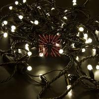 Гирлянда Нить 10м, постоянное свечение, черный ПВХ, 230В, цвет: Тёплый белый