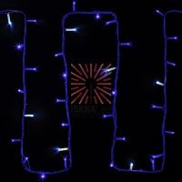 Гирлянда модульная  Дюраплей LED  20м  200 LED  белый каучук , мерцающий Flashing (каждый 5-й диод), Синяя