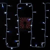 Гирлянда модульная  Дюраплей LED  20м  200 LED  белый каучук , мерцающий Flashing (каждый 5-й диод), Белая