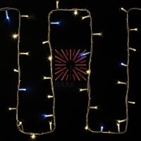 Гирлянда модульная  Дюраплей LED  20м  200 LED  белый каучук , мерцающий Flashing (каждый 5-й диод), ТЕПЛЫЙ БЕЛЫЙ