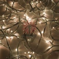 Гирлянда модульная «Дюраплей LED» 20 м, 200 LED, белый каучук, свечение теплое белое