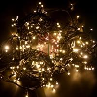 Гирлянда модульная «Дюраплей LED» 20 м, 200 LED черный каучук, мерцающий Flashing (каждый 5-й диод) свечение теплое белое