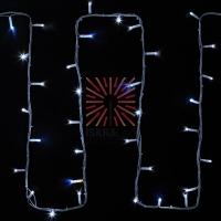 Гирлянда модульная «Дюраплей LED» 20 м, 200 LED, белый каучук, мерцающий Flashing (каждый 5-й диод) свечение белое