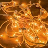 Набор «Белт-Лайт» 10 м, белый каучук, 30 ламп, цвет Теплый белый, IP65, соединяется