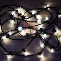 Набор «Белт-Лайт» 10 м, черный каучук, 30 ламп, цвет Белый, IP65, соединяется