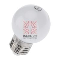 Лампа шар e27 5 LED  ?45мм - белая