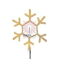 Фигура Снежинка, цвет ТЕПЛЫЙ БЕЛЫЙ, размер  30х28см