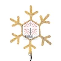 Фигура Снежинка цвет ТЕПЛЫЙ БЕЛЫЙ, размер  45*38 см  NEON-NIGHT