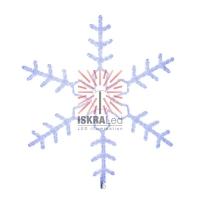 Фигура световая Большая Снежинка цвет синий, размер 95*95 см  NEON-NIGHT
