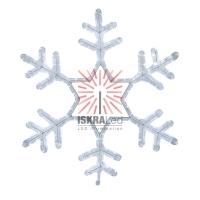 Фигура световая Снежинка цвет белый, размер 55*55см  NEON-NIGHT
