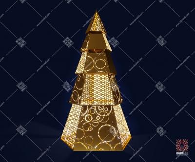 """Светодиодная 3D-фигура """"Золотая елка"""""""