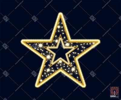 """Светодиодная 2D-фигура """"Сияющая звезда"""""""