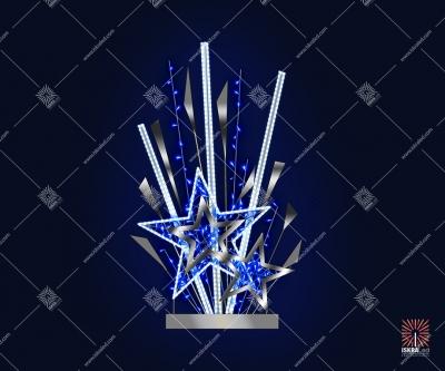 "Светодиодная 2D-фигура ""Синий звездопад"""