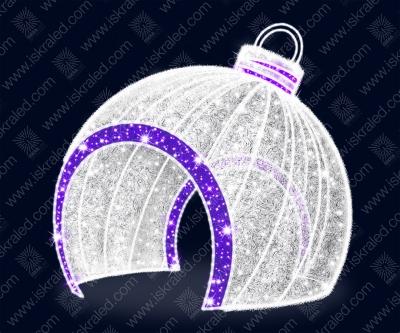 """Светодиодная 3D-фигура """"Елочный шар - арка"""""""