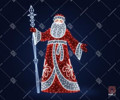 """Светодиодная 3D-фигура """"Дед Мороз веселый"""""""