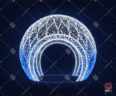 """Светодиодная 3D-фигура шар """"Иней"""""""
