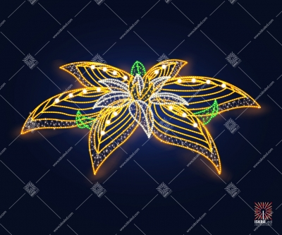 """Светодиодная 3D-фигура """"Цветок""""  3м"""