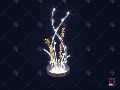 Светодиодный фонтан с листьями SPI