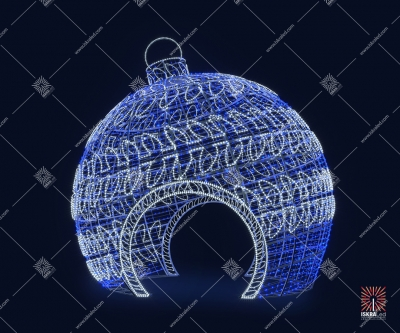 "Светодиодная 3D-фигура шар ""Лепесток"""