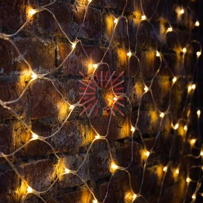 Гирлянда Сеть 2х1,5м, свечение с динамикой, прозрачный ПВХ, 288 LED, 230 В, цвет: Тёплый белый