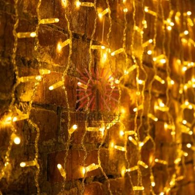 Гирлянда светодиодная «Дождь» 2x0,8 м, эффект мерцания, прозрачный провод, 230 В, диоды ТЕПЛЫЙ БЕЛЫЙ