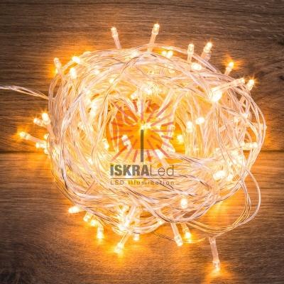 Гирлянда Твинкл Лайт 15 м, прозрачный ПВХ, 120 LED, цвет ТЕПЛЫЙ БЕЛЫЙ