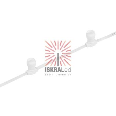 Belt-Light  2 жилы  шаг 40 см  патроны e27 влагостойкая IP65 белый провод