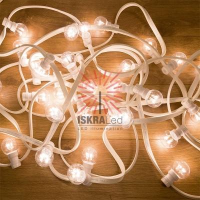 Набор «Белт-Лайт» 10 м, белый каучук, 30 ламп, цвет Белый, IP65, соединяется