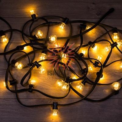 Набор «Белт-Лайт» 10 м, черный каучук, 30 ламп, цвет Теплый белый, IP65, соединяется