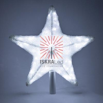 Акриловая светодиодная фигура Звезда 50см, со съемной трубой и кольцом для подвеса,160 светодиодов, белая, NEON-NIGHT