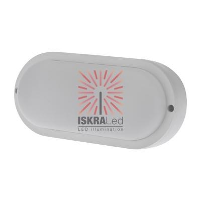 Светильник светодиодный пылевлагозащищенный REXANT ЖКХ-01 овал 18 Вт 1800 Лм IP65 196 мм 6500 K с микроволновым датчиком движения